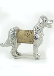 Cork Dog Retriever Sculpture Displays Wine Cork