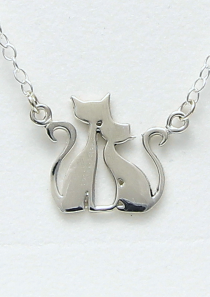 Two Cats Necklace