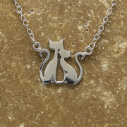 Cat Family Necklace by Artist Lori Strickland for Lucina K