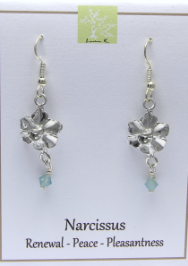 Narcissus Flower Earrings – Dec.