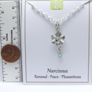 Pewter Narcissus Necklace by Lucina K.