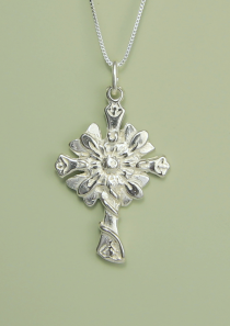 Follow the Son Sunflower Cross Necklace