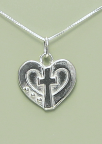 Truly Loved Cross and Heart Necklace