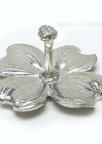 Dogwood Flower Ring Holder in Pewter