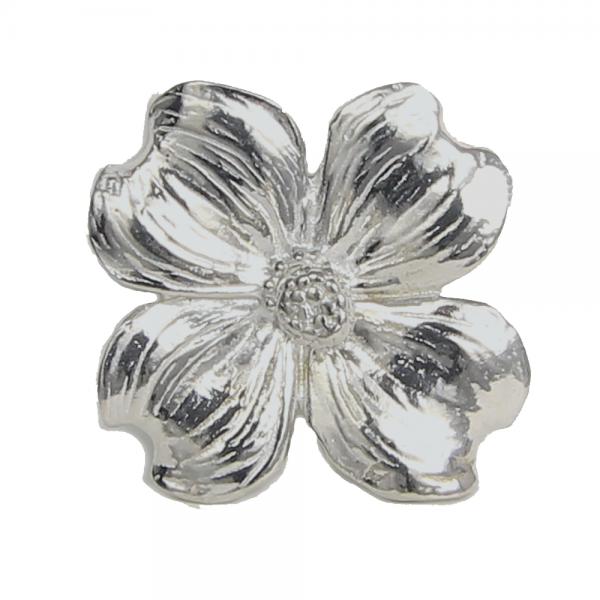 Dogwood Flower Ring Holder in Pewter