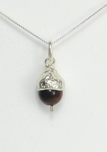 Acorn Necklace Small Tigers Eye
