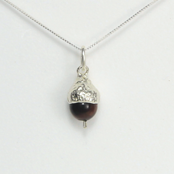 Acorn Necklace Small Tigers Eye - Lucina K.