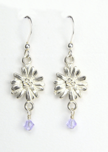 Aster Earrings September Flower