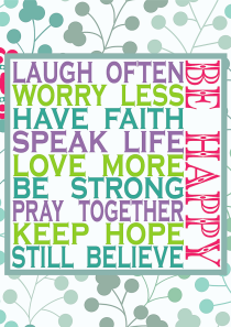 Be Happy Room Decor Sign