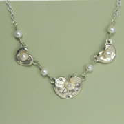 Triple Lily Pad Necklace - Lucina K.