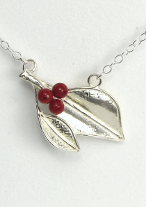 Genesis inspired Berry Leaf Necklace