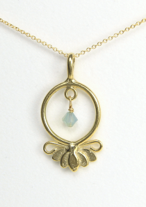 Lotus Flower Necklace Hope Serenity Vermeil