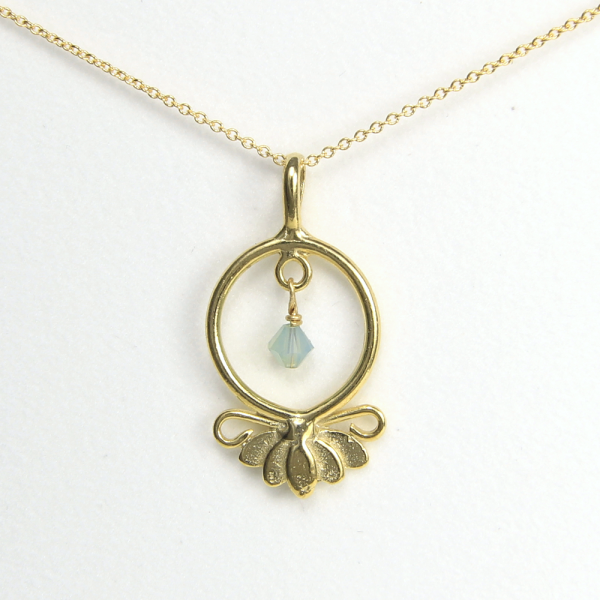 Lotus Flower Necklace Hope Serenity Vermeil