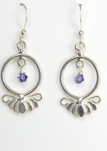 Large Lotus Flower Earrings Hope and Serenity