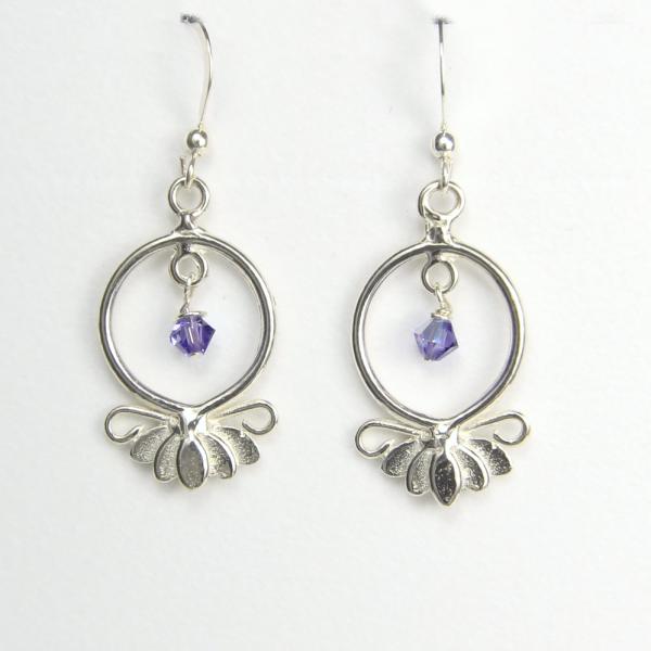Large Lotus Flower Earrings Hope and Serenity-Lucina K