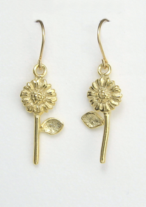 Sunflower Earrings vermeil