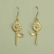 Sunflower Earrings vermeil - Lucina K.