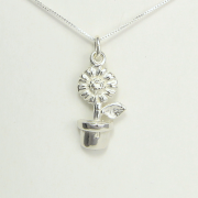 Sunflower in Pot Necklace - Lucina K.