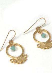 Large Lotus Flower Earrings Hope Serenity vermeil