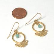 Large Lotus Flower Earrings Hope and Serenity