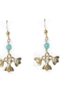 Lotus Flower Small Earrings Hope Serenity vermeil