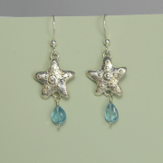 Silver Starfish Earrings by Lucina K.