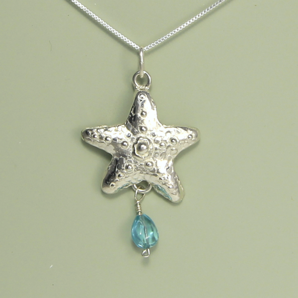 Silver Starfish Necklace by Lucina K.