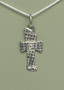 Rivet Cross Necklace