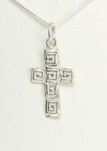 Mosaic Cross Necklace