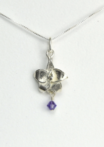 Larkspur Necklace July Flower