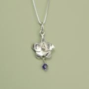 Larkspur Necklace July Flower