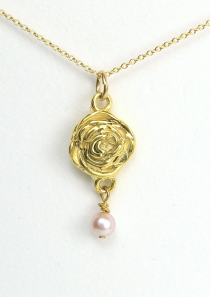 Rose Necklace June Flower