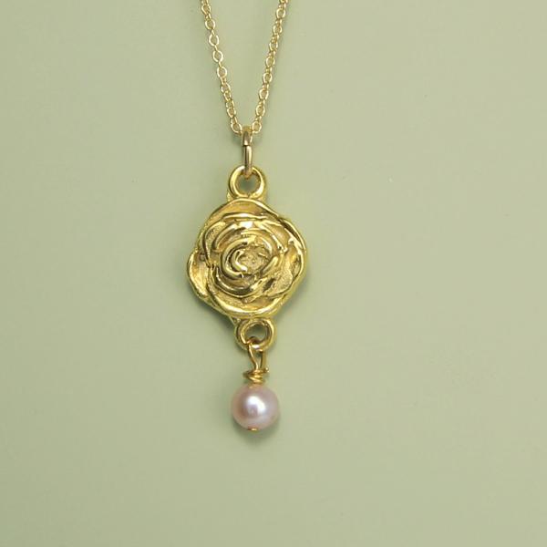 Rose Necklace June Flower