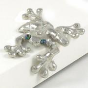 Playful Pewter Shelf Frog - Lucina K.