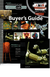 Press /Featured Work - Lucina K. Cork Pets Featured in Buyers Guide of American Craft