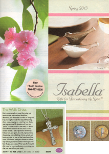 Press /Featured Work - Lucina K. Sterling Silver Walk Cross in Isabella Catalog