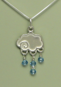 Dance in the Rain Necklace Sterling Silver