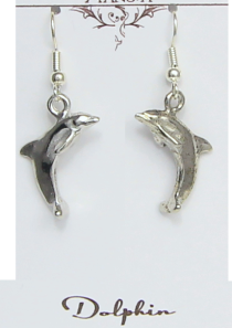 Dolphin Earrings Prosperity Well Being