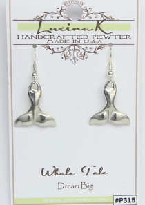 Dream Big Whale Tale Earrings