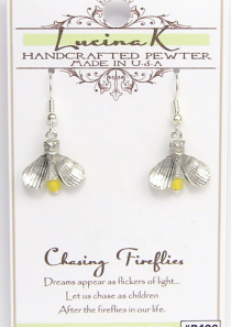 Chasing Firefly Earrings Pewter