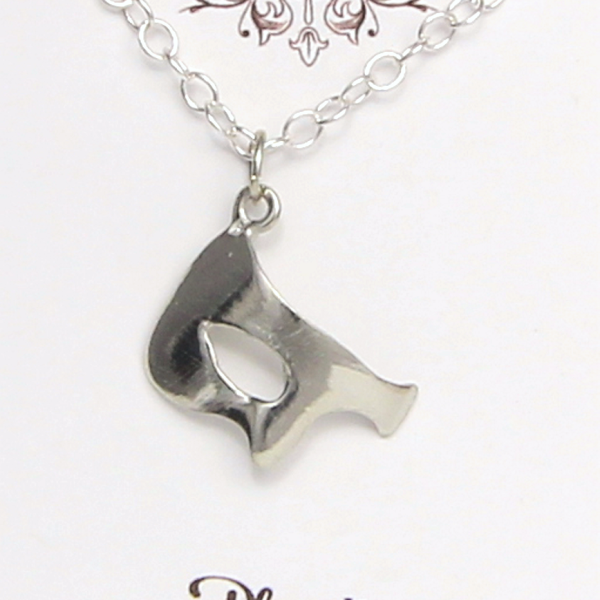 Phantom inspired Necklace Pewter