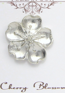 Cherry Blossom Magnetic Scarf Pin
