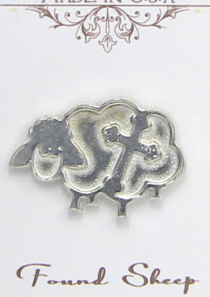 Found Sheep Magnetic Scarf Pin