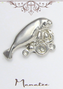 Manatee Magnetic Scarf Pin