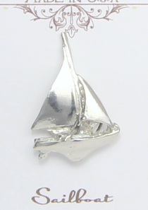 Sailboat Magnetic Scarf Pin