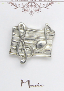 Music Magnetic Scarf Pin