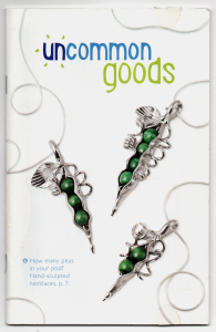 Press /Featured Work - Peas in A Pod Necklaces Featured on Cover of UncommonGoods Catalog