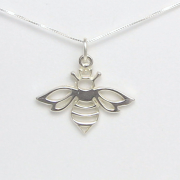 Queen Bee Necklace Sterling Silver - Lucina K.