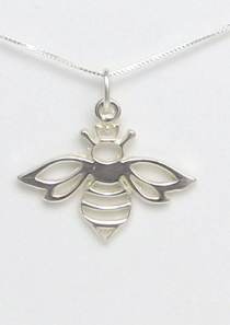 Queen Bee Necklace Sterling Silver