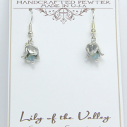 Lily of the Valley Earrings Pewter May Flower - Lucina K.